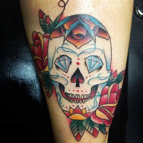 sugar skull tattoo diamond eyes meaning 21 inspiring sugar skull tattoos my next tattoo