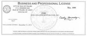 Business License Template by Restoration
