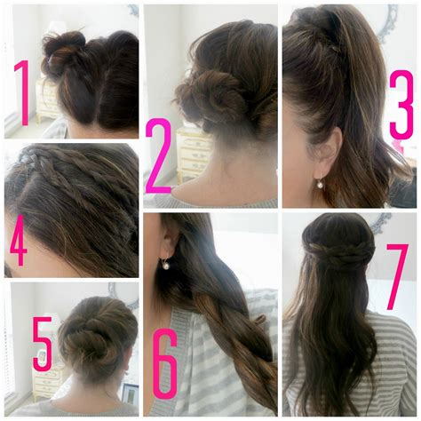 easy hairstyles step by step with pictures easy hairstyles step by step instructions hairstyles ideas