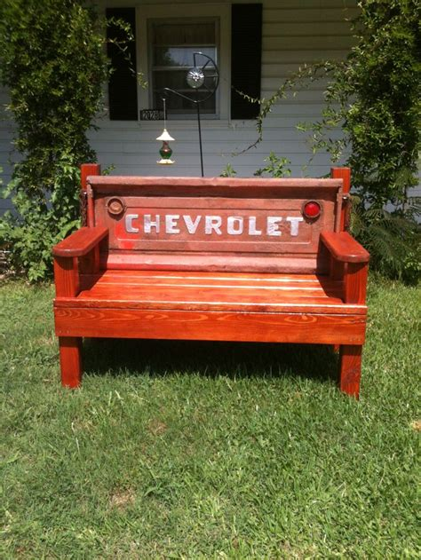how to make a tailgate bench tailgate bench diy benches pinterest benches and