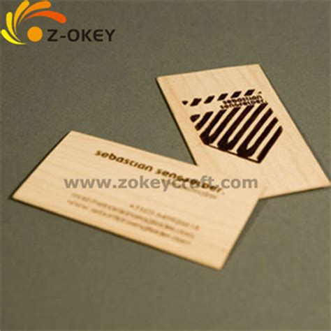 customized engraving customized laser cut and engrave wooden business card