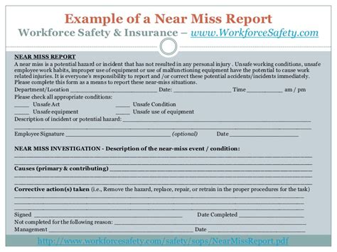 sle near miss report how to increase near miss reporting