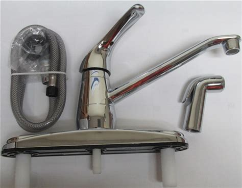 Mobile Home Kitchen Faucets Single Handle Kitchen Faucet With Matching Sprayer