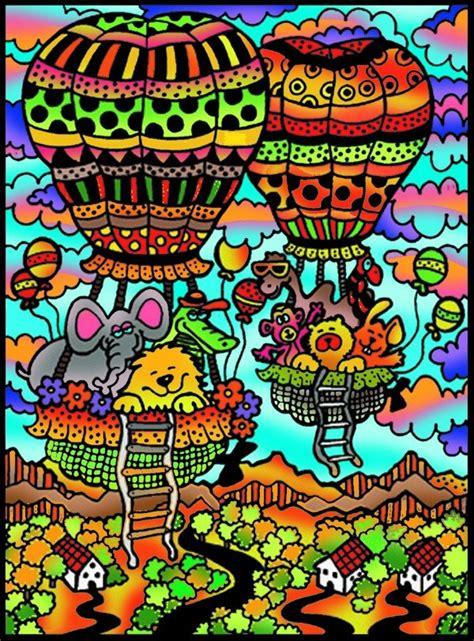 palloni volanti quadro da colorare in velluto con pennarelli inclusi