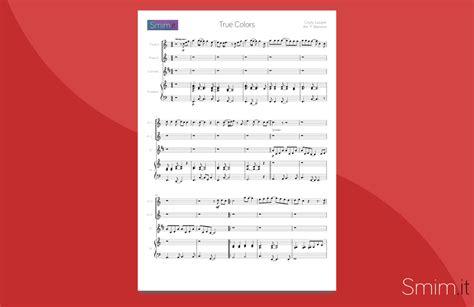 il clarinetto testo true colors spartito per flauto clarinetto e pianoforte