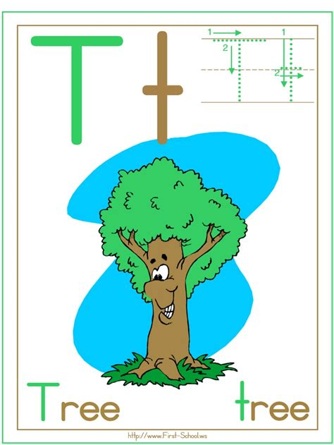 letter t tree fun family crafts 9 best images about spring alphabet themes printable