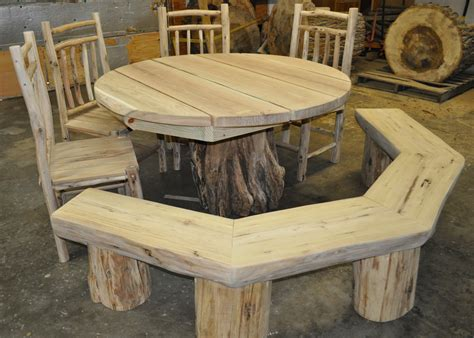 rustic table and bench 1000 images about rustic deck and patio furniture on