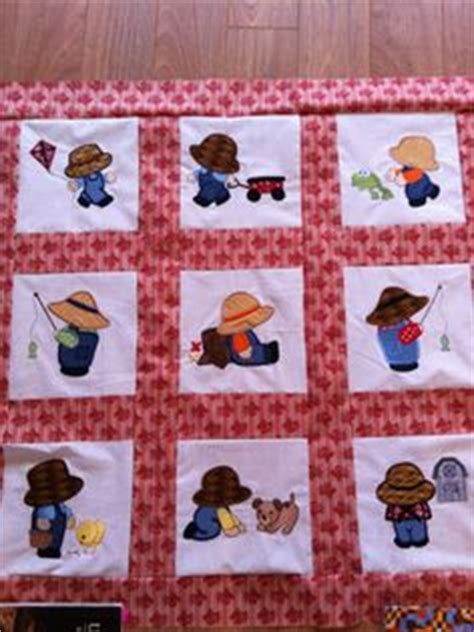 Overall Bill Quilt Pattern by Sunbonnet Sue Overall Bill On Sunbonnet Sue