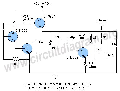 best transistor for fm transmitter transistor fm tracking transmitter circuit diagram