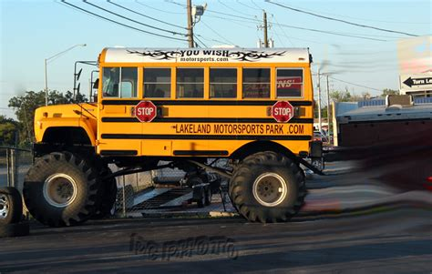 monster truck bus videos a bus wearing monster truck tires oddity pc photo
