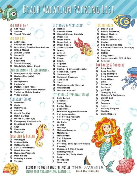 vacation checklist 25 best ideas about vacation checklist on