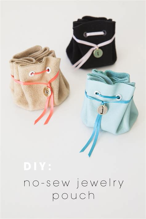 how to make a jewelry bag learn how to make this no sew jewelry pouch
