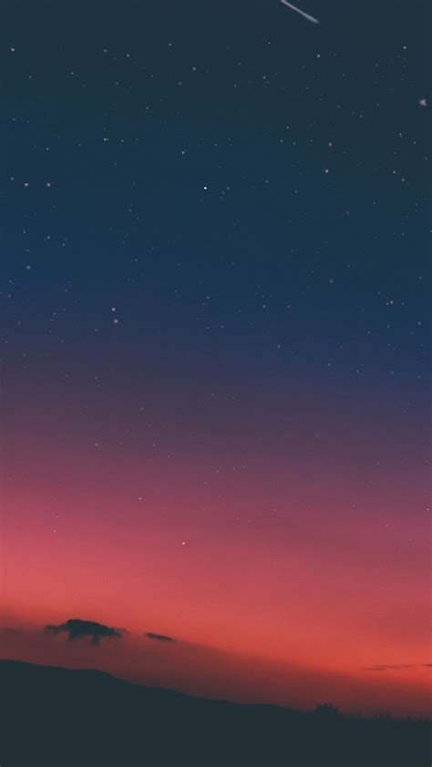 night sky sunset pink nature iphone  wallpaper