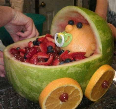 Fruit Baby For Baby Shower by Play With Your Food Baby Buggy Fruit Salad