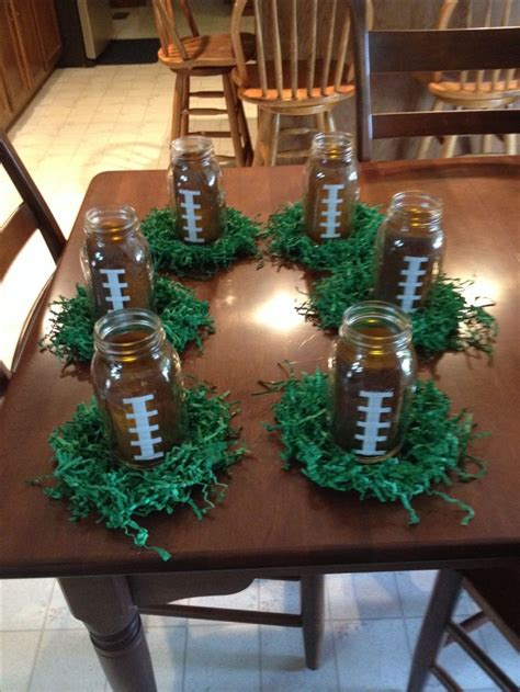 banquet table centerpieces grad football centerpieces football team spirit