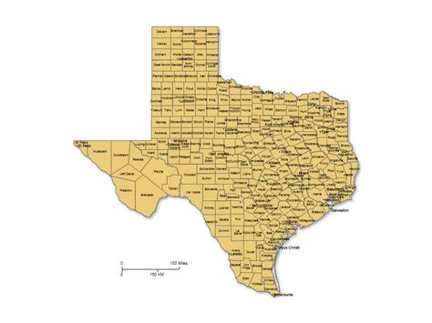 map showing texas counties texas counties major cities powerpoint map maps for powerpoint