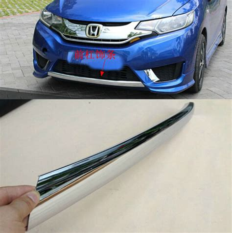 Grill Cover Chrome Tempel Jazz 2014 Jsl fit for 2014 2015 honda jazz fit chrome front lower bumper cover molding trim grill garnish