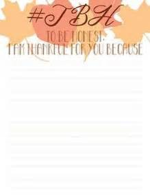 Thanksgiving Letter Template by Tbh To Be Honest Thanksgiving Letter Template