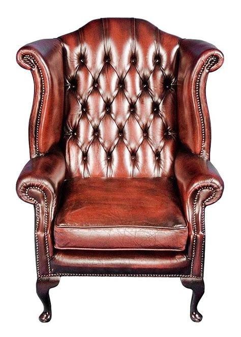 Wingback Leather Armchair by Vintage Leather Wingback Armchair