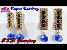 quilling tutorial in telugu silk thread jewellery making with paper quilling strips