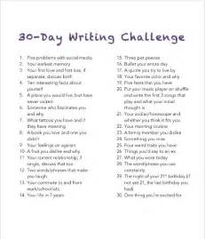 Challenge Essay Exle by 30 Day Writing Challenge Thoughtvomit