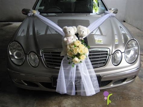 Brautauto Deko by Bridal Car Decoration 85 Flowers