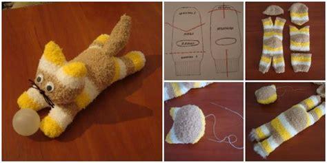 sock animal patterns cat diy sock kittens tutorial beesdiy