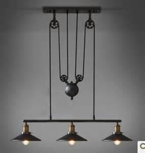 wonderful Wrought Iron Lighting Fixtures Kitchen #1: 2015-new-Loft-can-lift-pulley-mahjong-lamp-retractable-iron-pendant-light-vintage-bar-counter-lamp.jpg