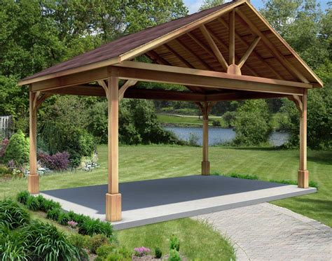 Gable Roof Gazebo Cedar Gable Ramadas Ramadas By Material