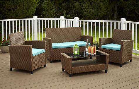 cosco products piece malmo resin wicker patio set outdoor