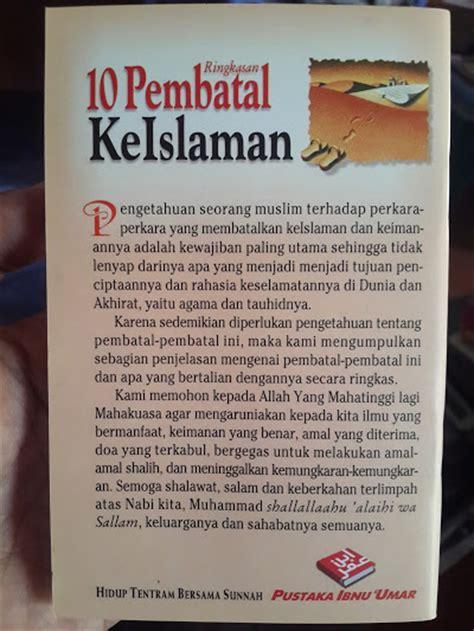 Buku Bingkisan Istimewa Untuk Ibu Tuntunan Praktis A Z buku saku ringkasan 10 pembatal keislaman toko muslim title