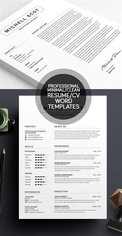 best minimal 50 best minimal resume templates design graphic design