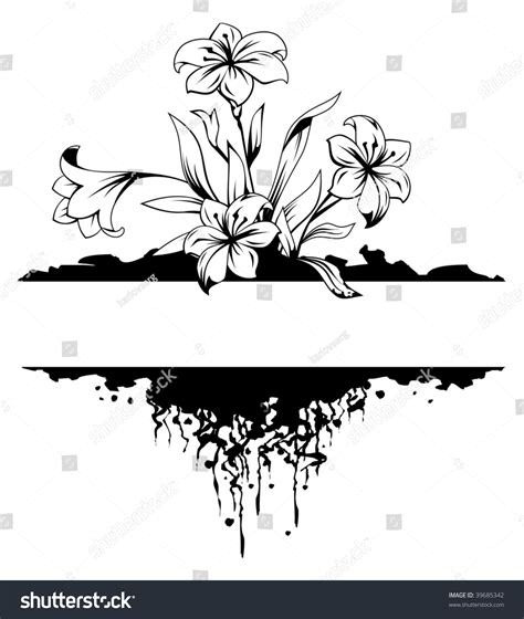 grunge page with floral border stock illustration illustration of fashioned aged 2582659 grunge floral frame with flower and root black and white vector illustration 39685342