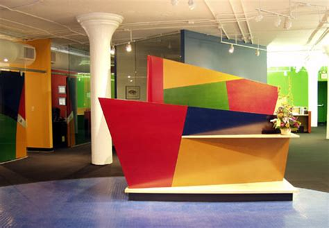 Colorful Desk by Creative Cabinets Office Retail