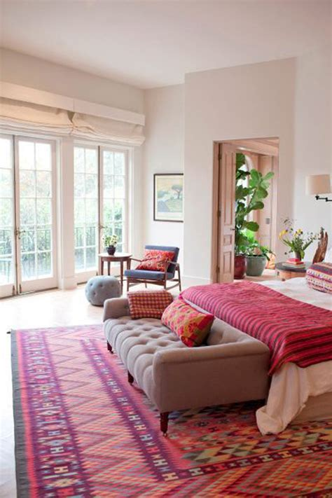 pink rugs for bedroom 31 bohemian style bedroom interior design