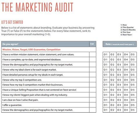Marketing Audit Template Free Word Excel Documents Download Seo Audit Template