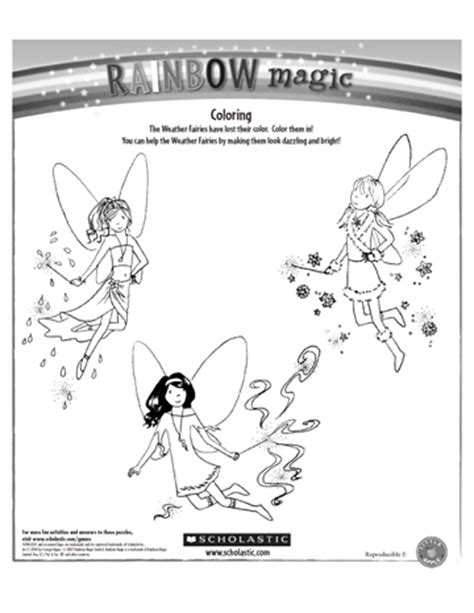 Rainbow Fairies Coloring Pages Coloring Printable Sheets At Scholastic Com Magic School by Rainbow Fairies Coloring Pages