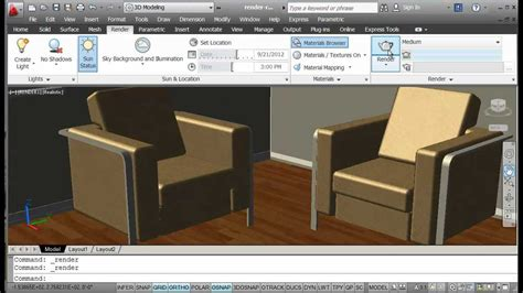 tutorial autocad rendering autocad render 2 mp4 youtube