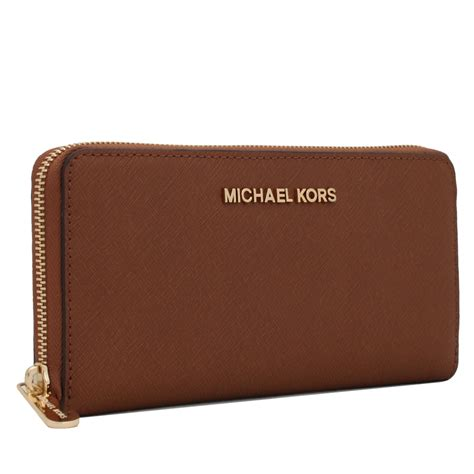 michael kors jet set travel zip  saffiano leather
