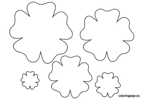 flower template printable spring pinterest coloring