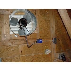 gable attic fan home construction improvement