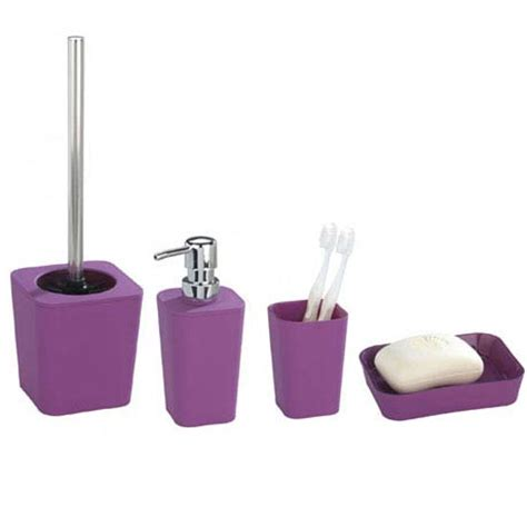 Rainbow Bathroom Accessories Wenko Rainbow Bathroom Accessories Set Purple At Plumbing Uk
