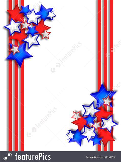 Stars And Stripes Border Illustration