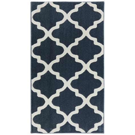 Shop Allen Roth Elysian Trellis Dark Slate Rectangular 10x13 Outdoor Rug