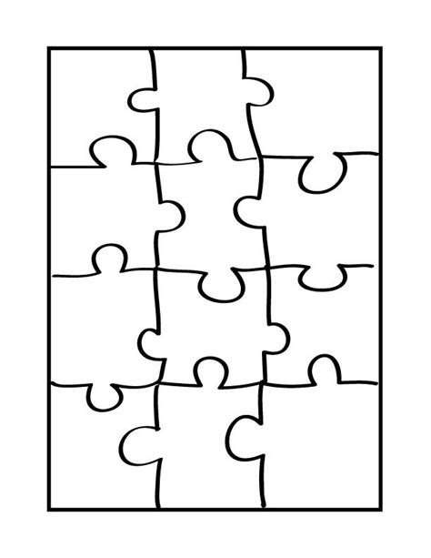 Printable Jigsaw Puzzle Maker Printable Blank Puzzle Pieces Clipart Best