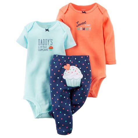 baby clothes s s world carters newborn 3 6 9 12 18 24 months cupcake bodysuit set