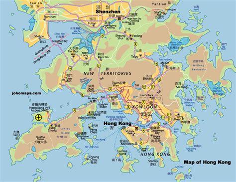 map of hong kong map of hong kong free printable maps
