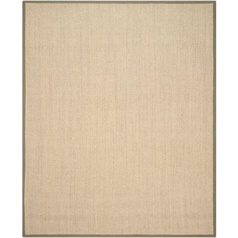 Beige And Green Area Rugs Safavieh Fiber Beige Green 8 Ft X 10 Ft Area Rug Nf443c 8 The Home Depot