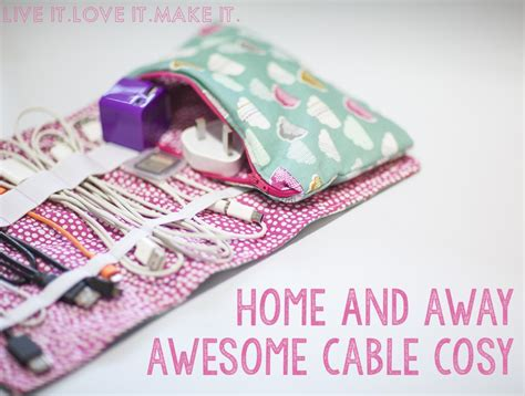 pattern for cord holder charging cable organizer sewing tutorial allcrafts free