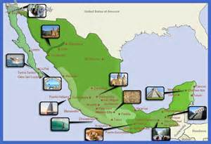 mexico map tourist attractions map travel